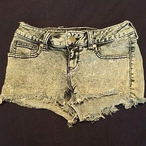 Decree Acid Washed Jean Shorts